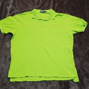 POLO RALPH LAUREN GREEN POLO SHORT SLEEVE SHIRT
